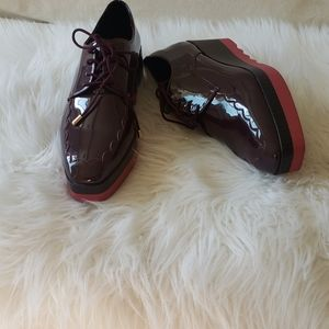 Zara Trafaluc platform Oxford shoes